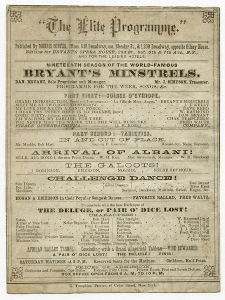 The Elite Programme for Bryant's Opera House by American School