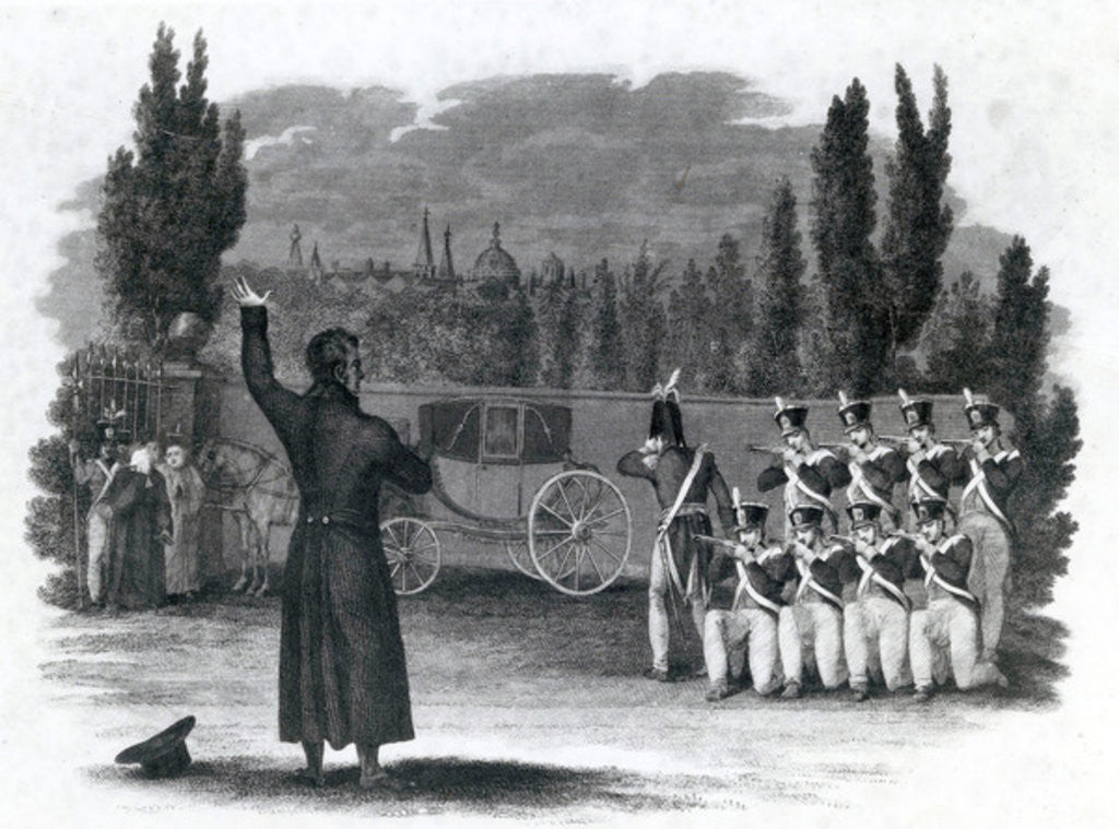 Marshal Ney shot himself giving the word of command