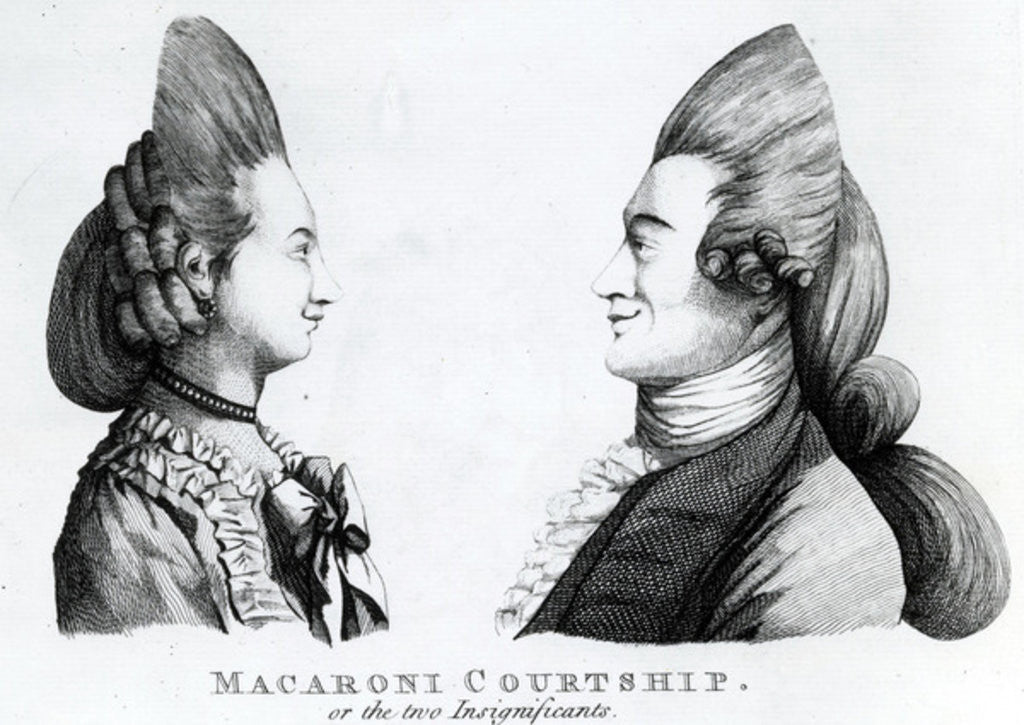 Detail of Macaroni Courtship, or the two Insignificants by English School
