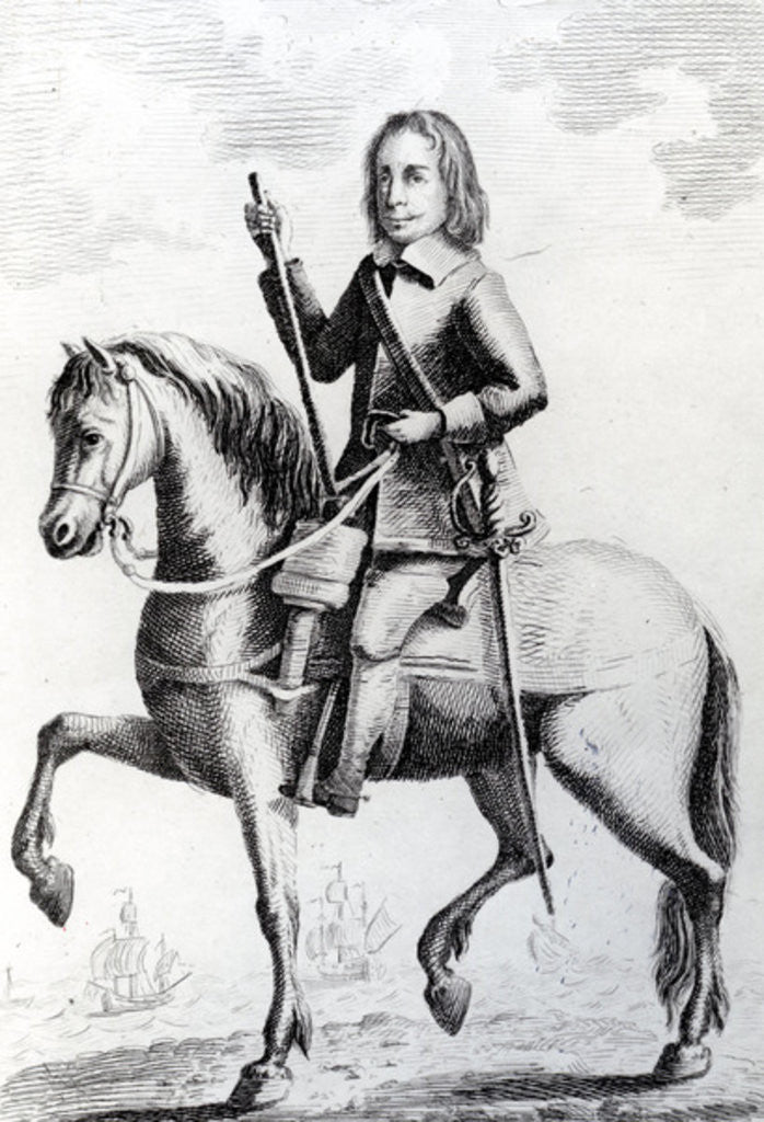 Detail of Portrait of Major General Desborough on horseback by English School