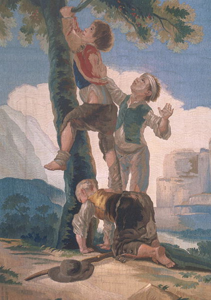 Detail of Boys Climbing a Tree by Francisco Jose de Goya y Lucientes