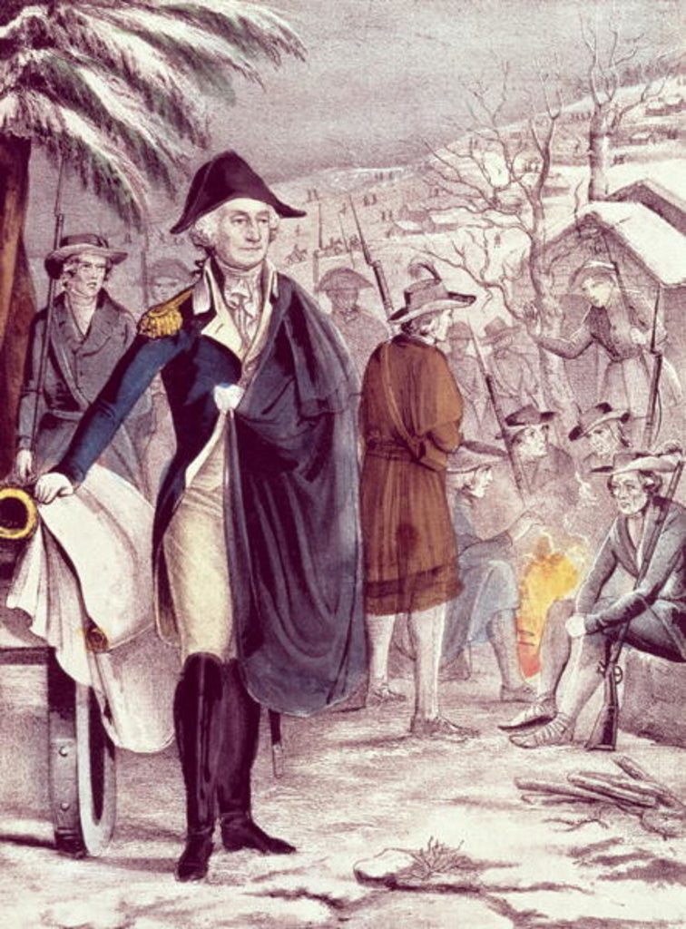 Detail of George Washington at Valley Forge by American School