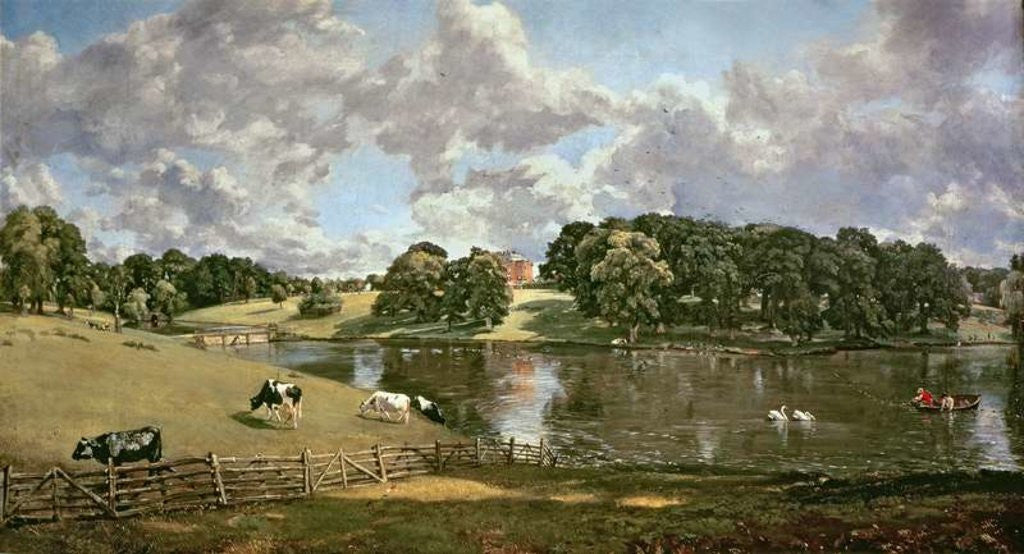 Detail of Wivenhoe Park, Essex by John Constable