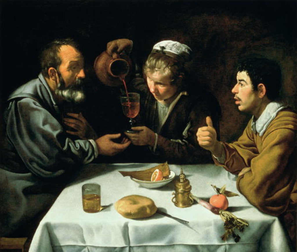 Detail of The Lunch by Diego Rodriguez de Silva y Velazquez