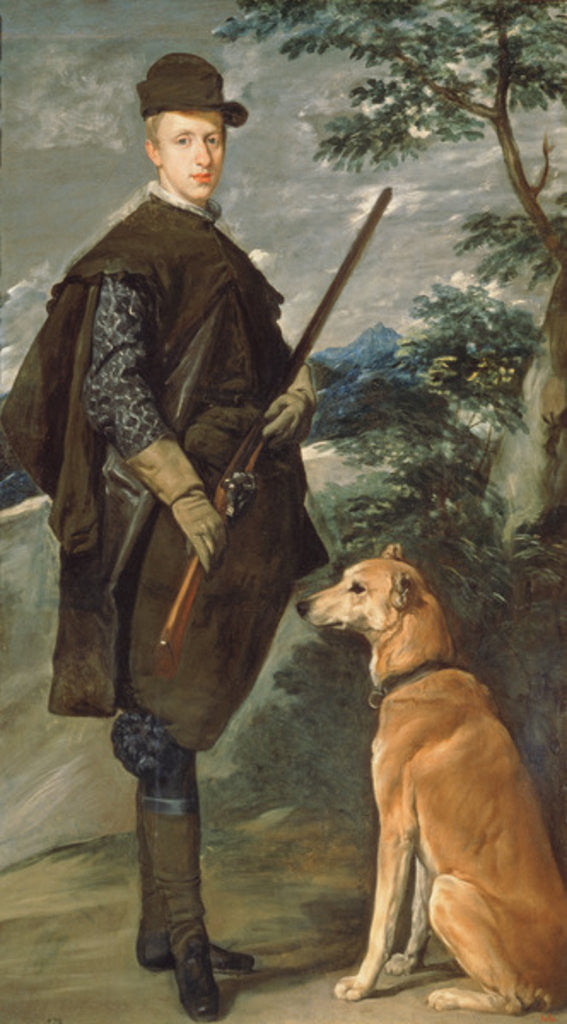 Detail of Portrait of Cardinal Infante Ferdinand of Austria with Gun and Dog by Diego Rodriguez de Silva y Velazquez