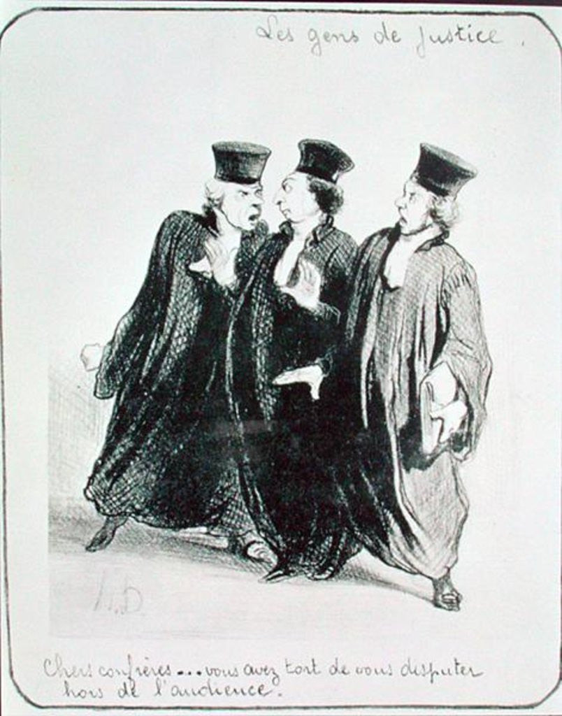 Detail of A Dispute Outside the Courtroom by Honore Daumier