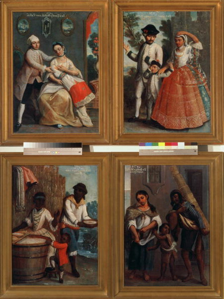 Detail of Four Different Racial Groups by Andres de Islas