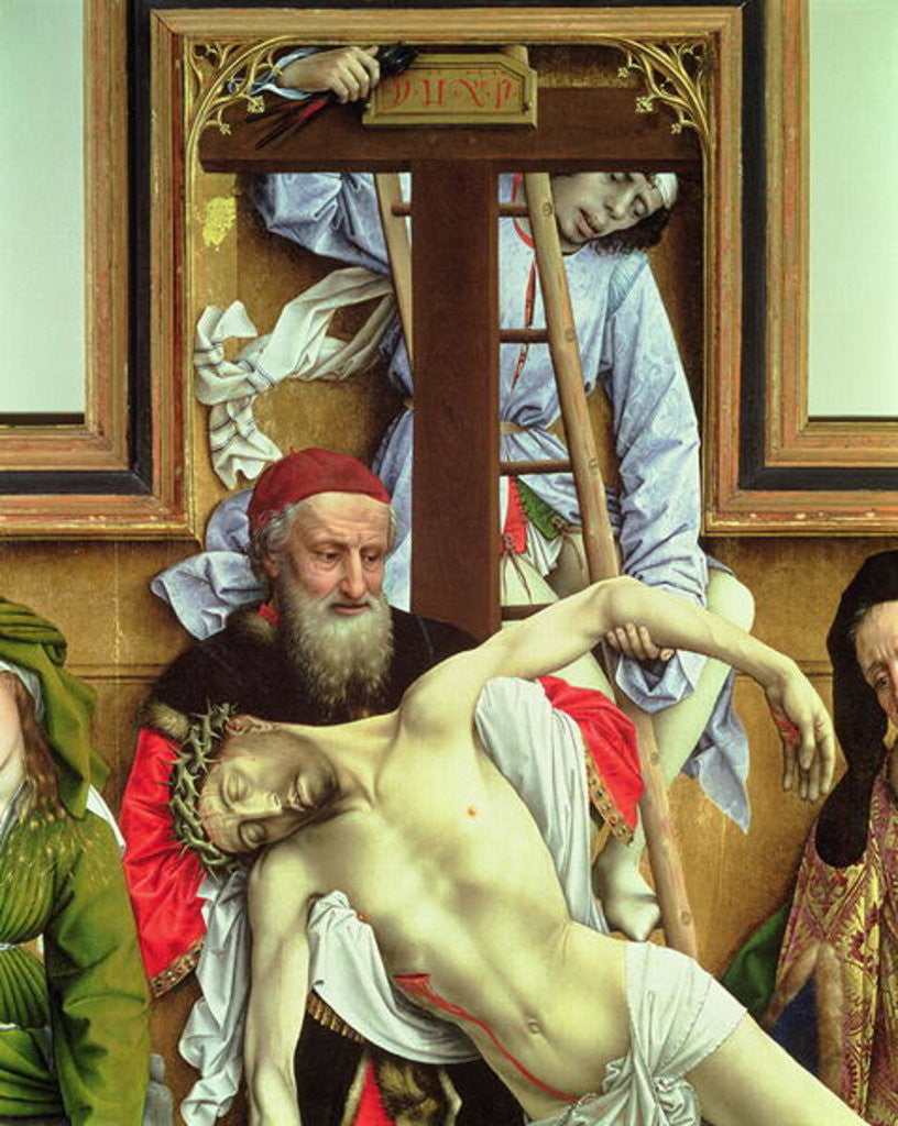 Detail of Joseph of Arimathea Supporting the Dead Christ by Rogier van der Weyden