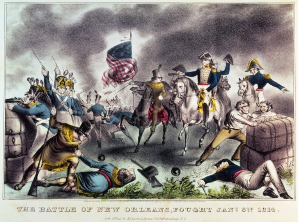 Detail of The Battle of New Orleans by N. and Ives