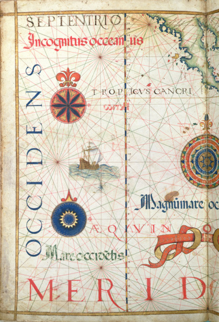 Detail of Central America and the Pacific, detail from a world atlas by Diego Homem