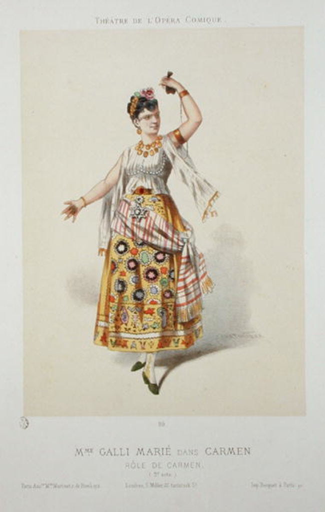 Detail of Galli Marie in the role of Carmen in 'Carmen' by Georges Bizet by French School