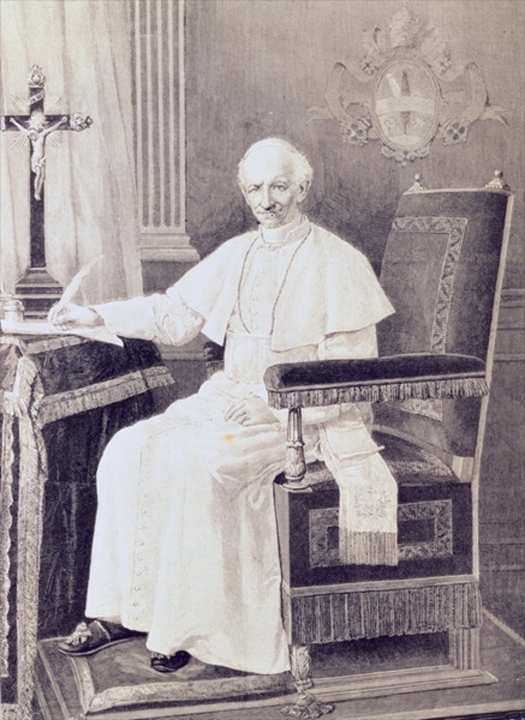 Detail of Portrait of Pope Leo XIII by Italian School