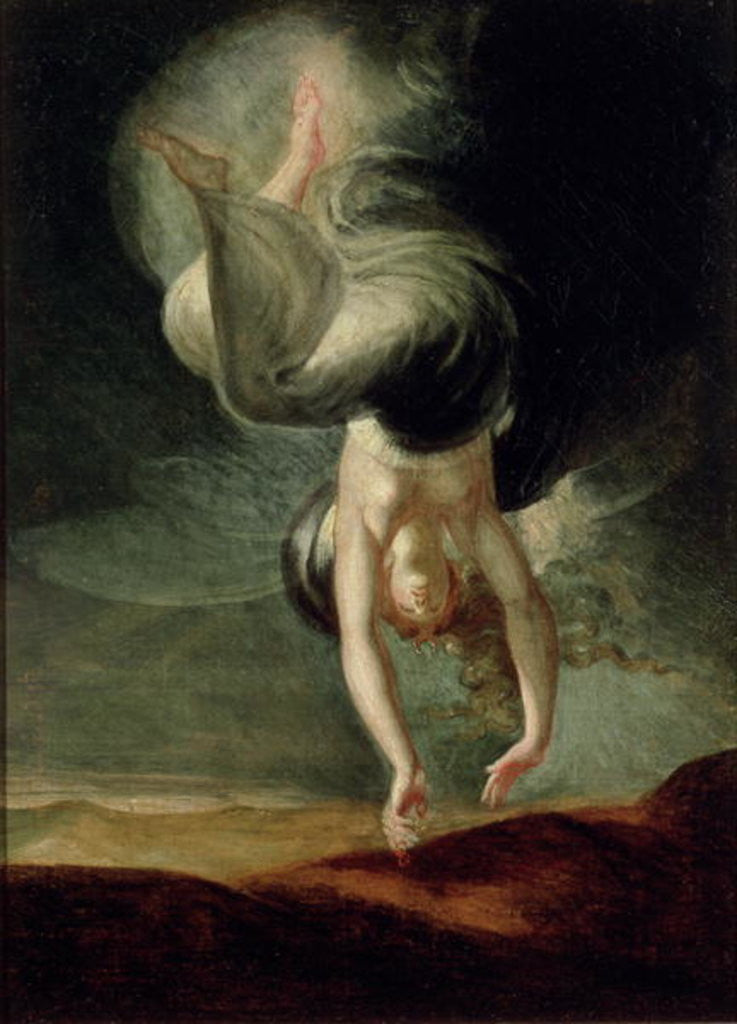 Detail of Titania finds the magic ring on the shore by Henry Fuseli
