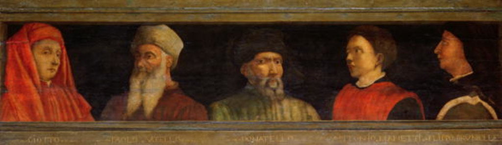 Detail of Portraits of Giotto Uccello, Donatello Manetti and Brunelleschi by Paolo Uccello