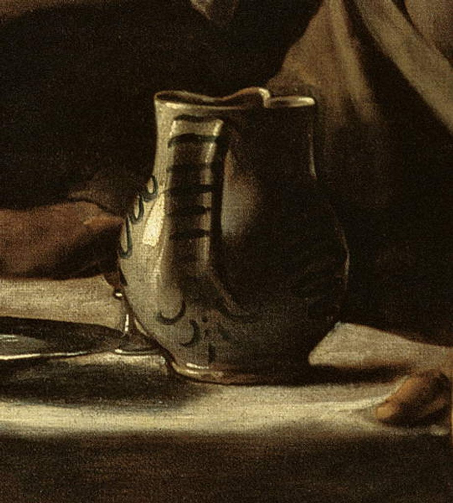 Detail of Detail of jug from Supper at Emmaus, 1606 by Michelangelo Merisi da Caravaggio