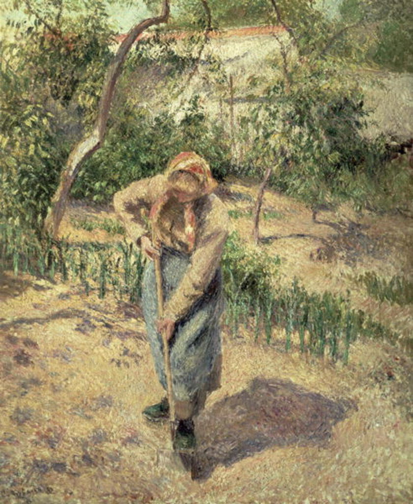 Detail of Woman Digging in an Orchard by Camille Pissarro