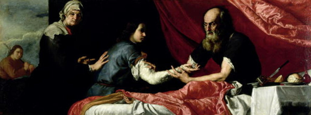 Detail of Isaac Blessing Jacob by Jusepe de Ribera