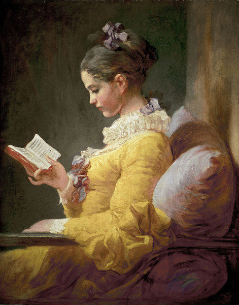 Detail of Young Girl Reading by Jean-Honore Fragonard