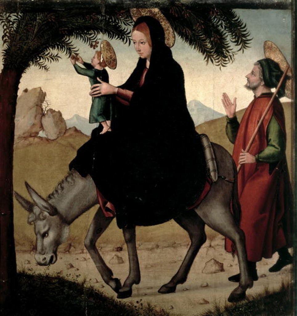 Detail of The Flight into Egypt by Juan de Borgona