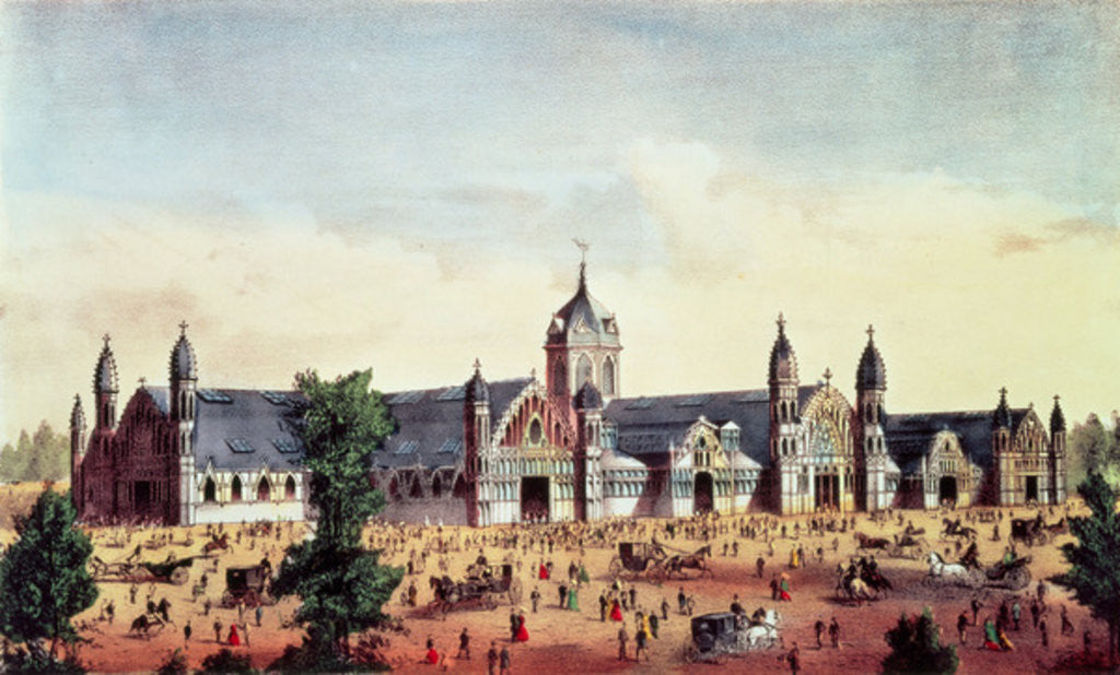 Detail of Agricultural Hall, Grand United States Centennial Exhibition, Fairmount Park, Philadelphia by American School