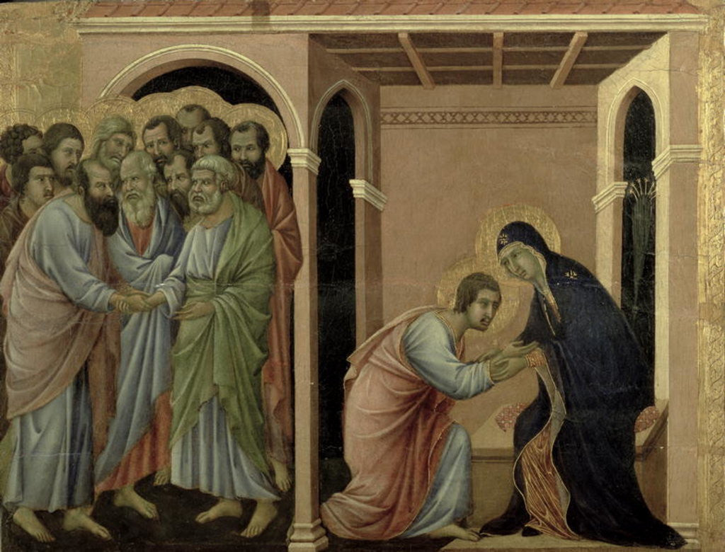 Detail of Maesta: The Virgin Says Farewell to St. John by Duccio di Buoninsegna