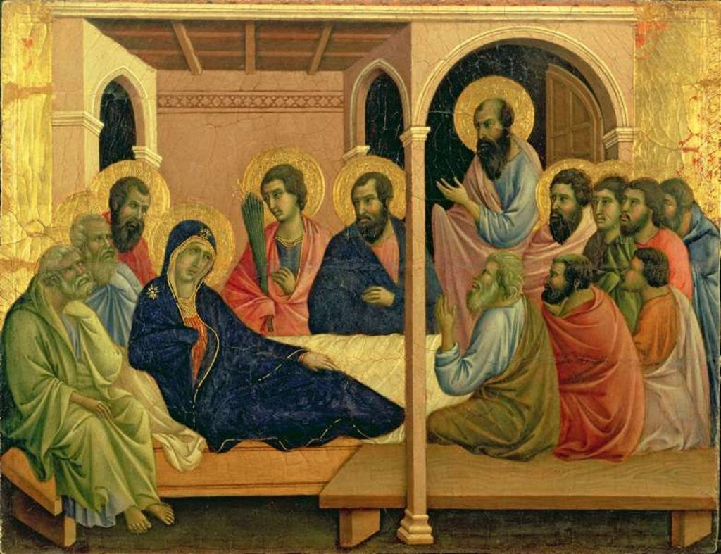 Detail of Maesta: The Virgin Taking Leave of the Disciples by Duccio di Buoninsegna