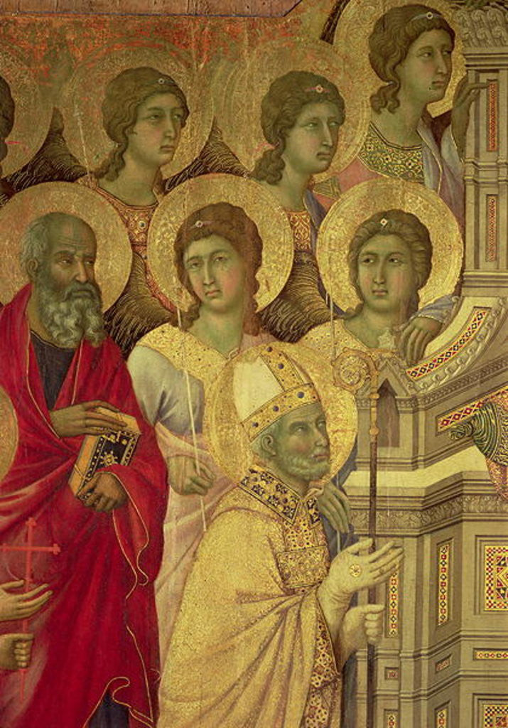 Detail of Maesta: Saints by Duccio di Buoninsegna