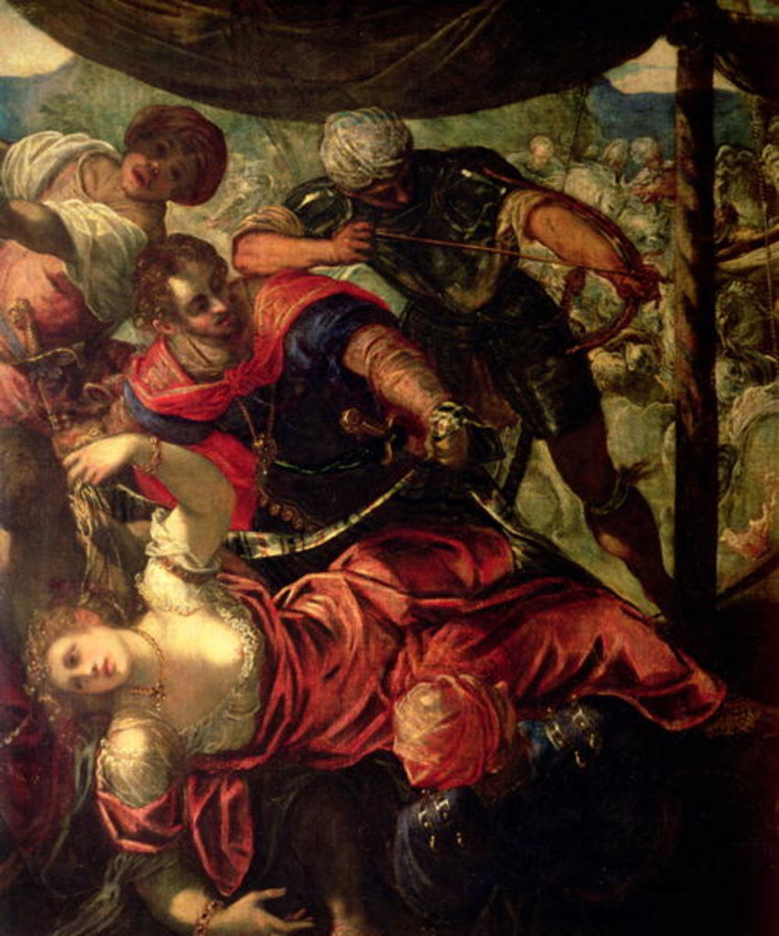 Detail of Battle between Turks and Christians, c.1588/89 by Jacopo Robusti Tintoretto