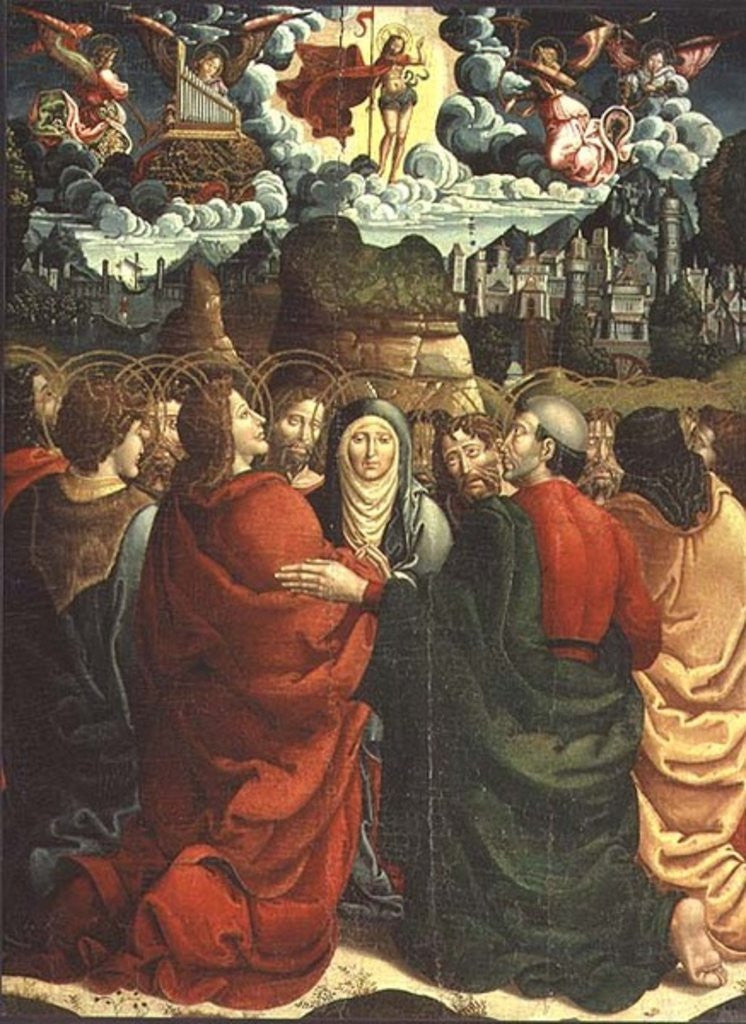 Detail of The Ascension by Master of Sigena