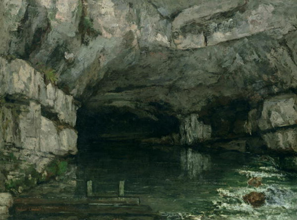 Detail of The Grotto of the Loue by Gustave Courbet