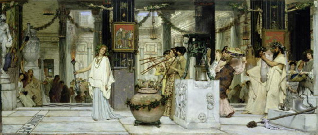 Detail of The Vintage Festival in Ancient Rome by Sir Lawrence Alma-Tadema