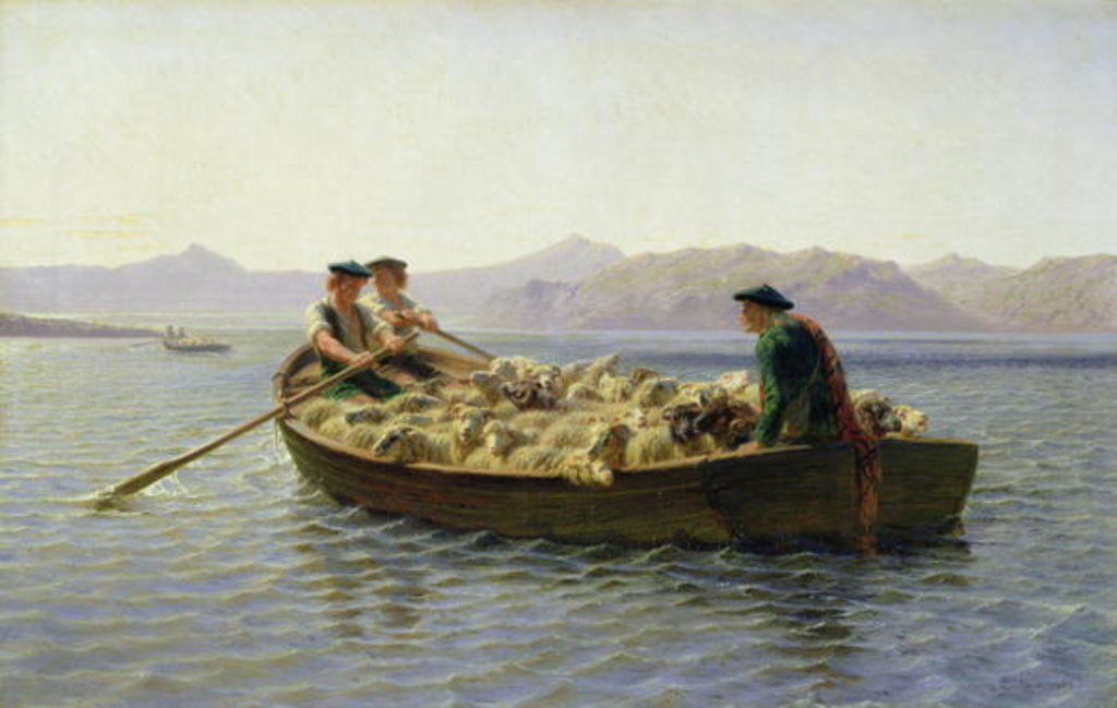 Detail of Rowing-Boat by Rosa Bonheur