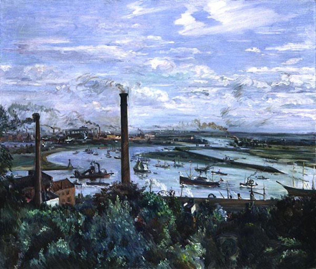 Detail of View of Kohlbrand by Lovis Corinth