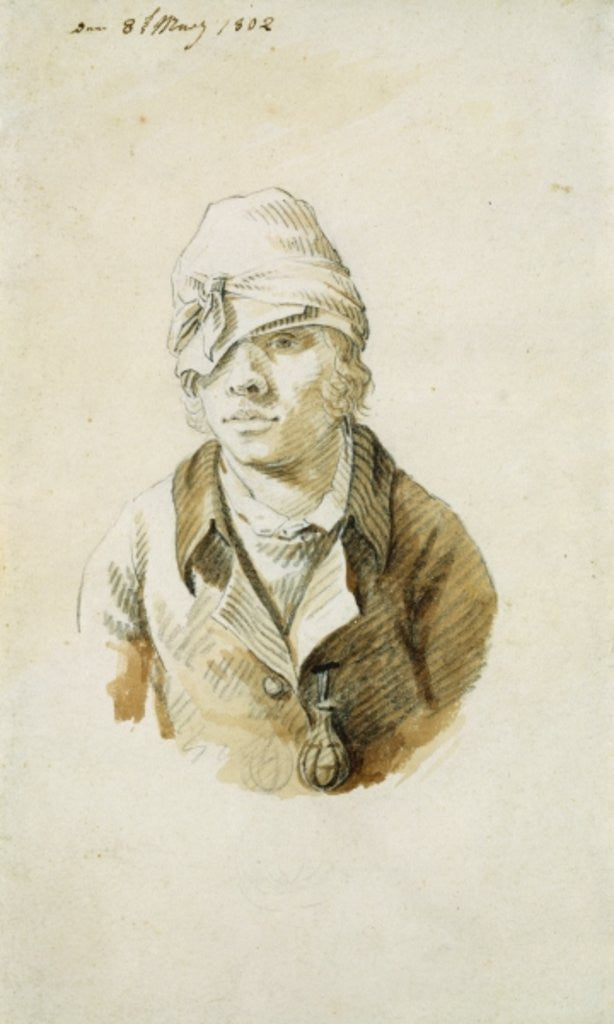 Detail of Self Portrait with Cap and Eye Patch by Caspar David Friedrich