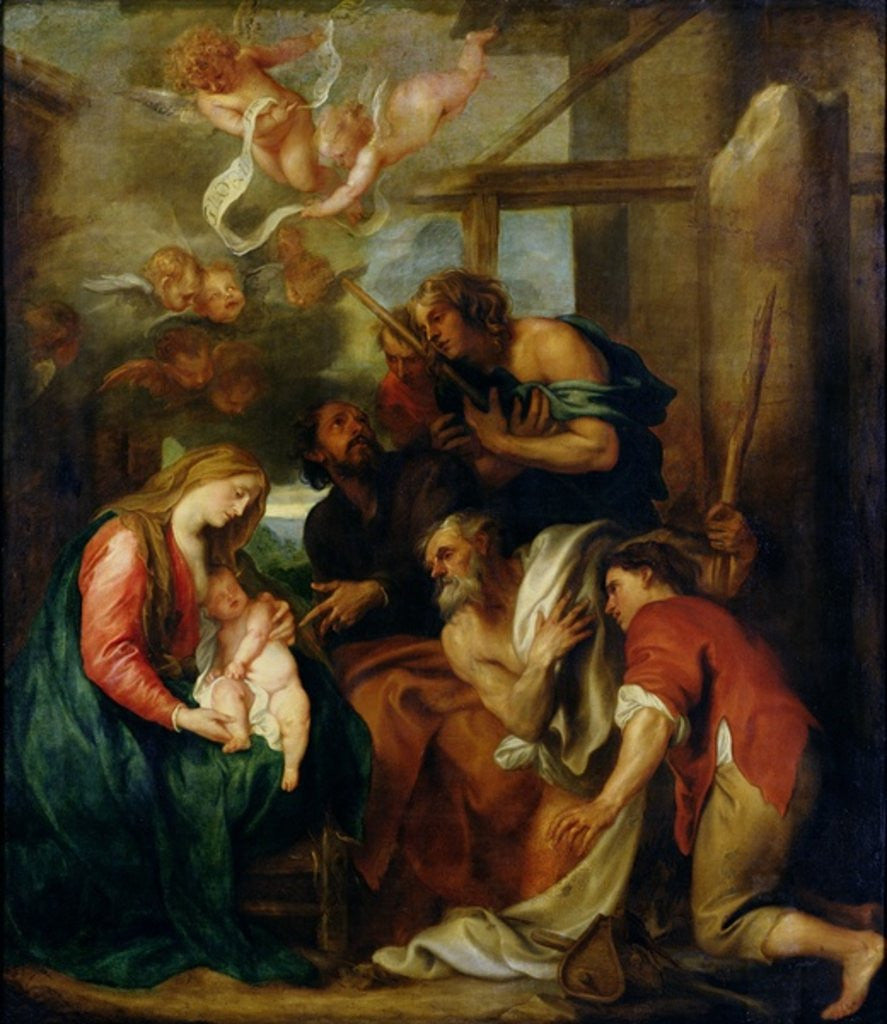 Detail of Adoration of the Shepherds by Sir Anthony van Dyck