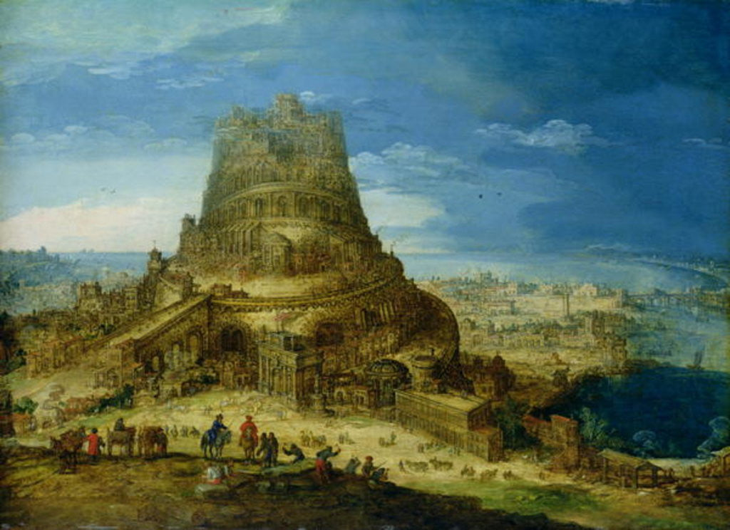 Detail of The Building of the Tower of Babel by Hendrick van Cleve
