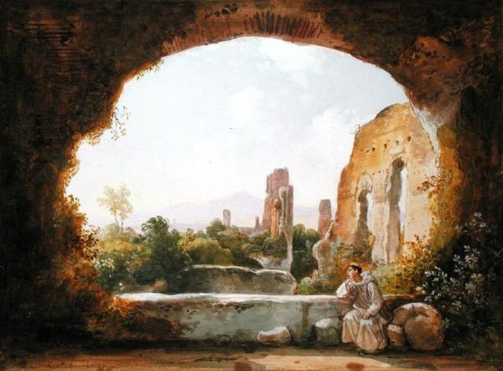 Detail of The Grotto of Egeria by Franz Ludwig Catel
