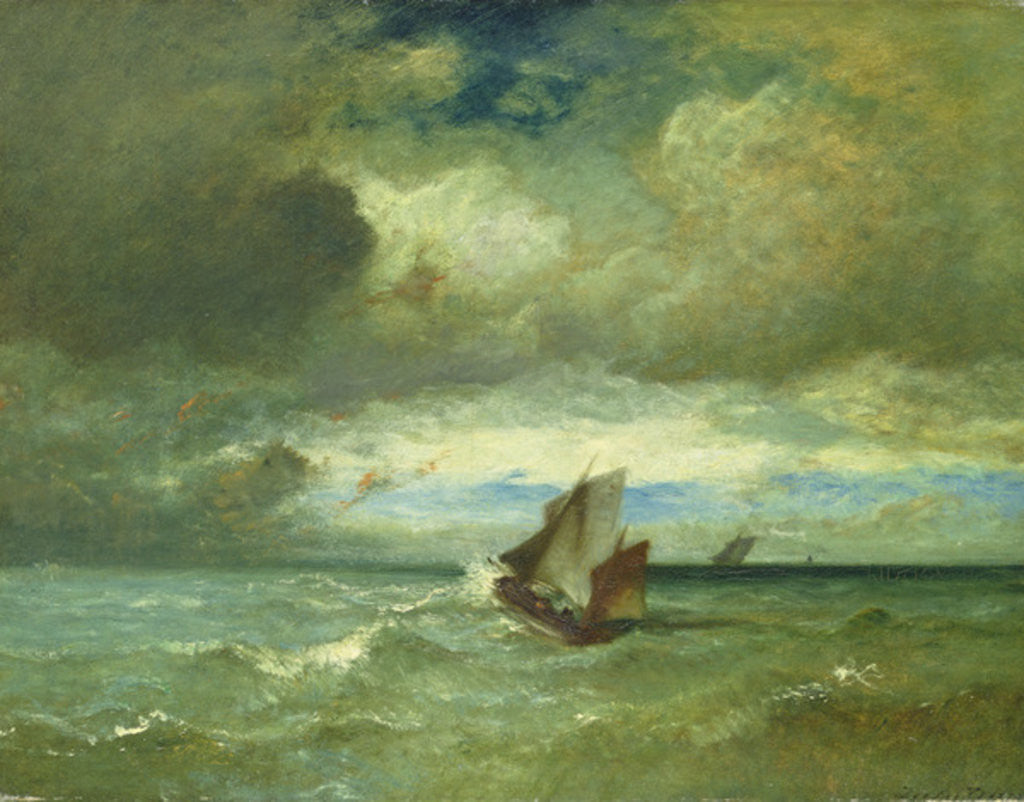 Detail of Choppy Sea by Jules Dupre