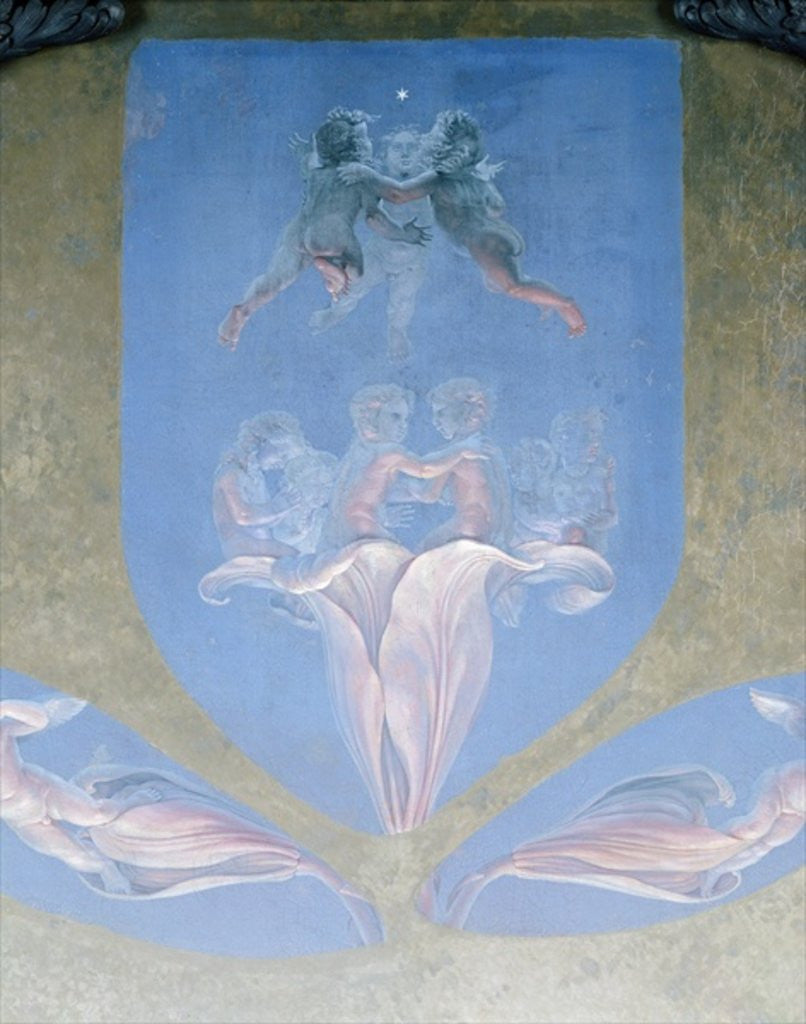 Detail of A section from the second version of 'The Morning' by Philipp Otto Runge
