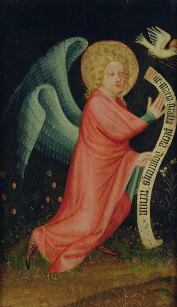 Detail of The Angel of the Annunciation by Master Bertram of Minden