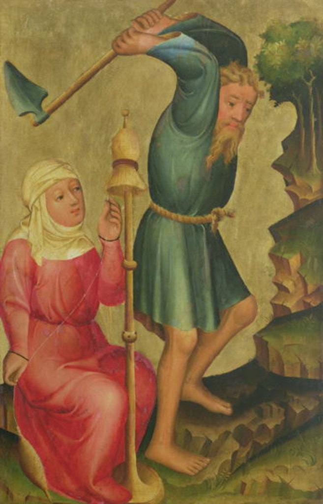 Detail of Adam and Eve at Work, detail from the Grabow Altarpiece by Master Bertram of Minden