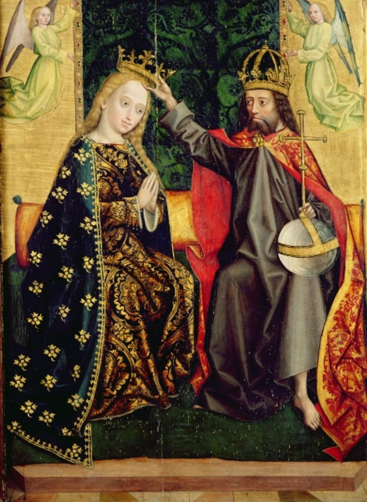 Detail of The Virgin Enthroned by Absolon Stumme