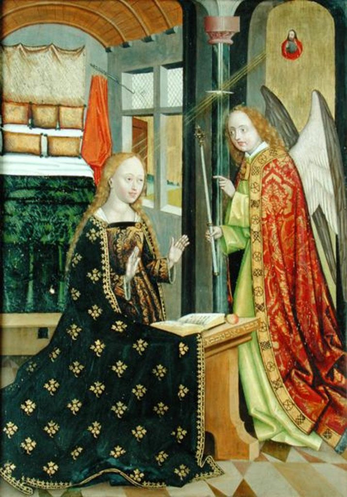 Detail of Annunciation by Absolon Stumme