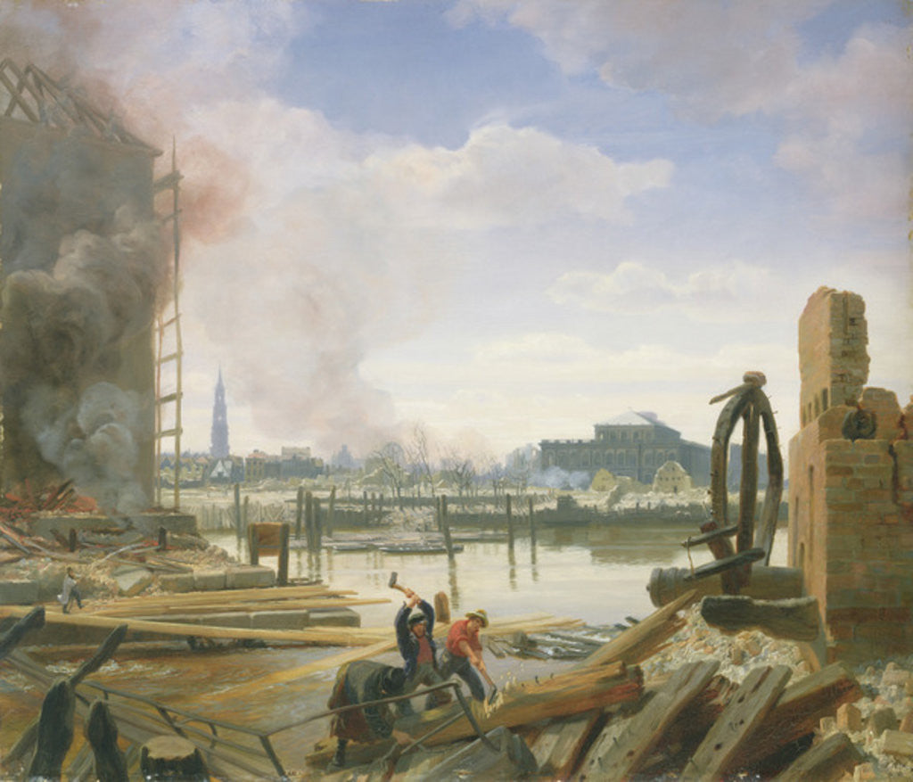 Detail of Hamburg After the Fire by Jacob Gensler