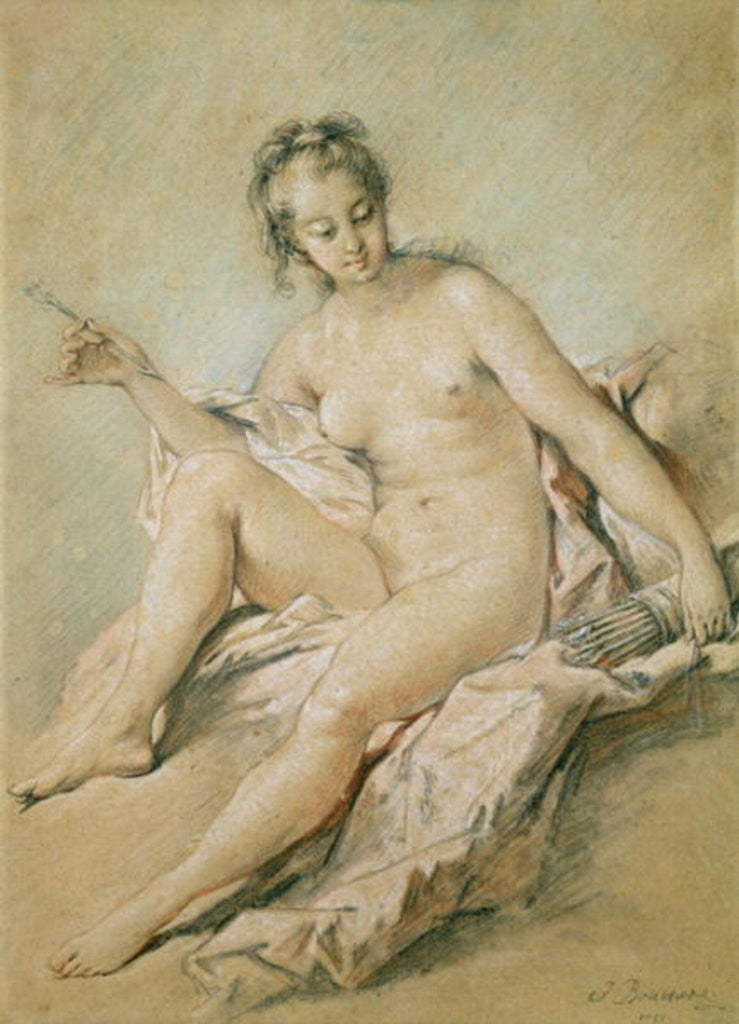 Detail of A study of Venus by Francois Boucher
