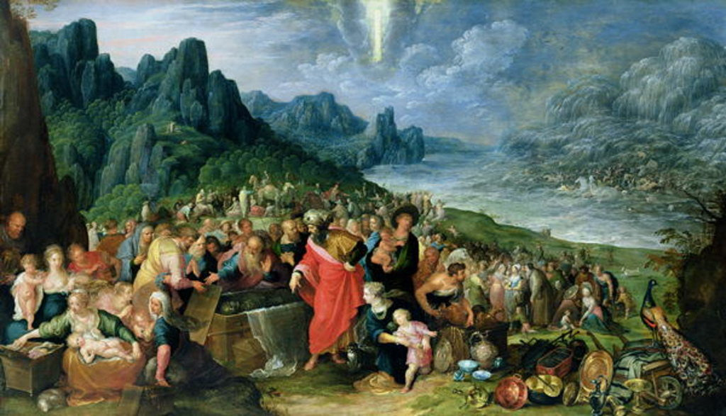 Detail of The Israelites on the Bank of the Red Sea by Frans II the Younger Francken