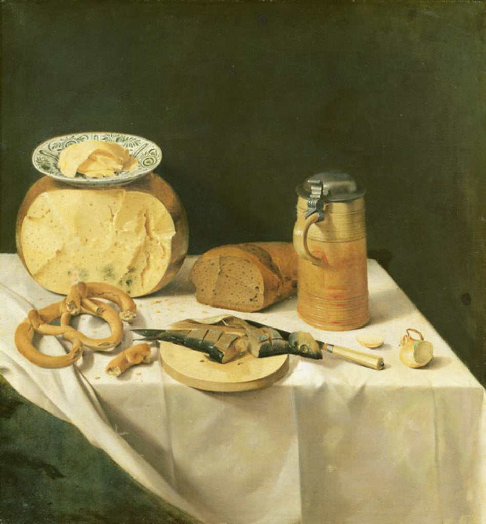 Detail of Breakfast Still Life by Johann Georg Hinz