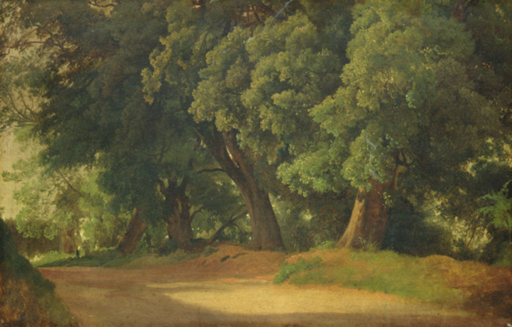 Detail of Oak Trees in Holstein by Louis Gurlitt