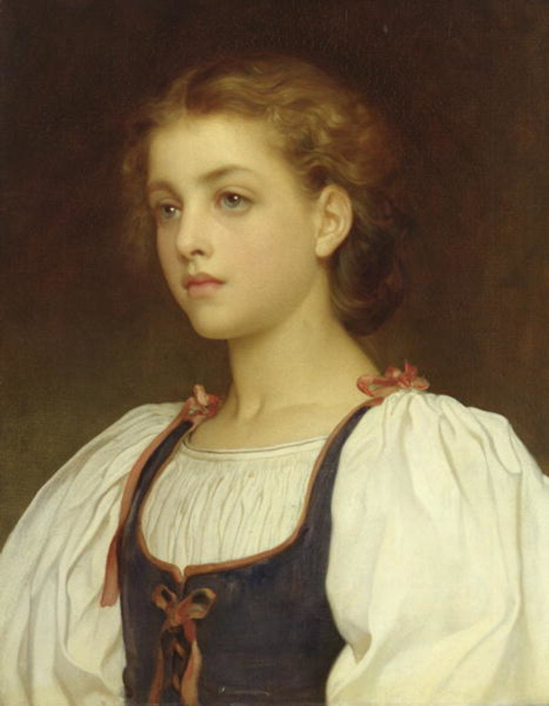 Detail of Biondina by Frederic Leighton