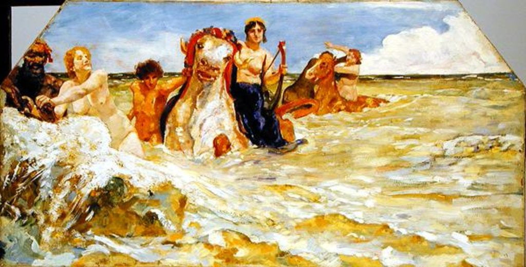 Detail of Sea Gods in the Surf by Max Klinger